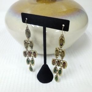 Jewelry - Gorgeous NWT Brown/Green Dangle Earring